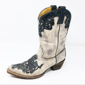 Corral Women's Distressed Overlay Western Boots